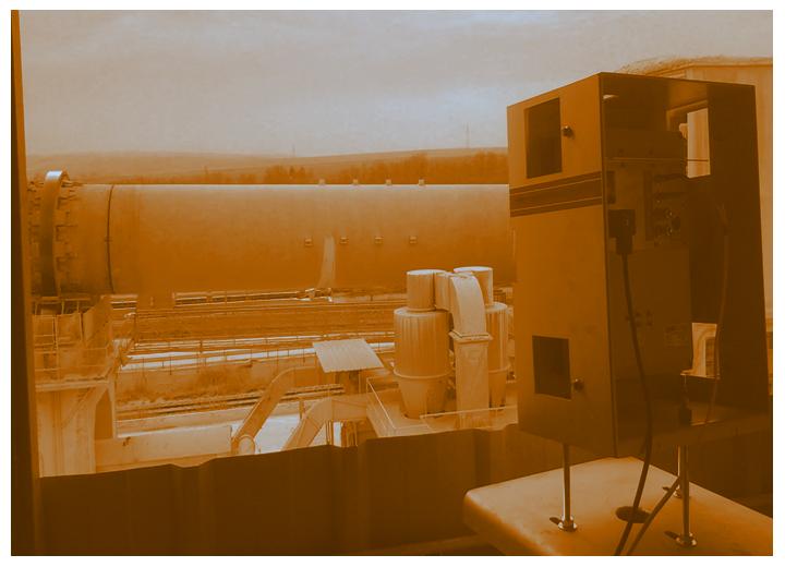 hot spot detection on rotary kiln