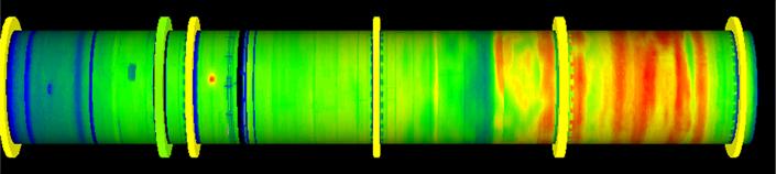 Kilnscan hot spot detection thermal image of kiln