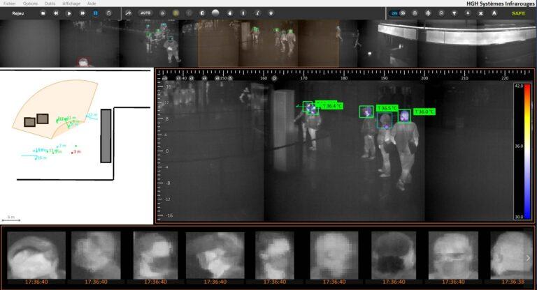 crowd temperature monitoring mIRcury screenshot multiple people