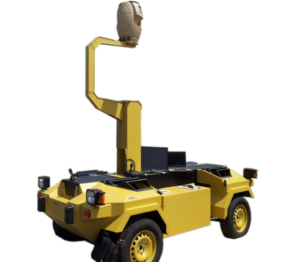 spynel attached to vehicle for mobile surveillance application