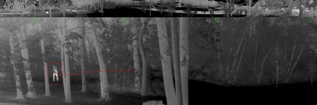 spynel image detects man behind trees