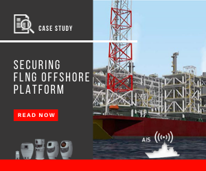 Securing FLNG offshore platform with SPYNEL Thermal cameras, read the case study